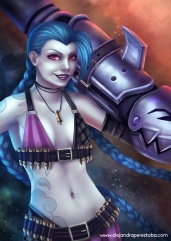 Jinx - League of Legends - Digital painting