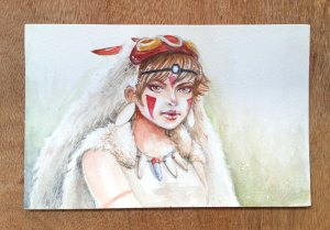 Mononoke Hime - Watercolor