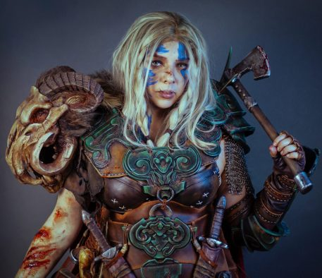 Barbarian cosplay from Diablo IV. Diablo 4